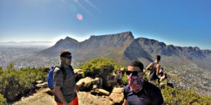 Stephen Nagel and Aidan hike Lion's Head